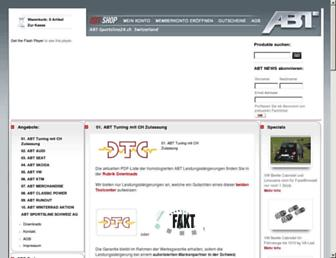 Main page screenshot of abt-sportsline24.ch