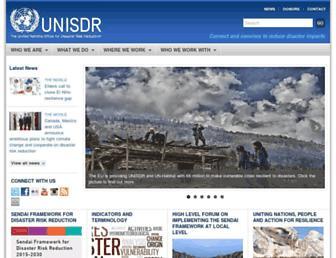 unisdr.org screenshot