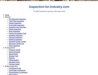 inspection-for-industry.com screenshot
