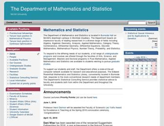 math.mcgill.ca screenshot