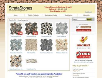 Main page screenshot of stratastones.net