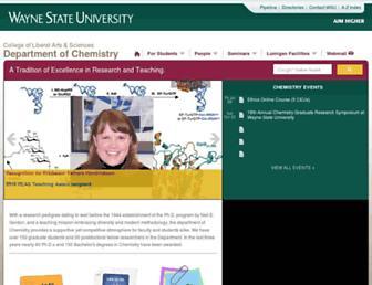 Main page screenshot of chem.wayne.edu