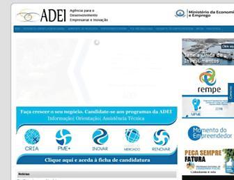 Main page screenshot of adei.cv