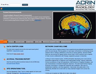 acrin.org screenshot