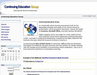 continuingeducationgroup.net screenshot