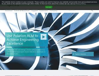 polarion.plm.automation.siemens.com screenshot