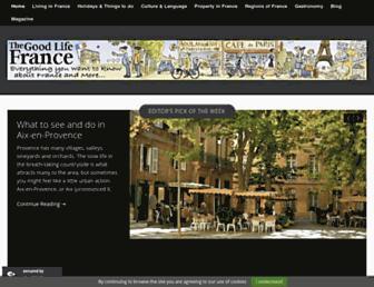 thegoodlifefrance.com screenshot