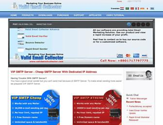 validemailcollector.com screenshot