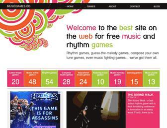 musicgames.co screenshot