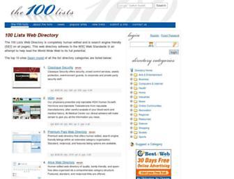 Thumbshot of The100lists.com