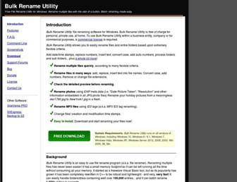 bulkrenameutility.co.uk screenshot