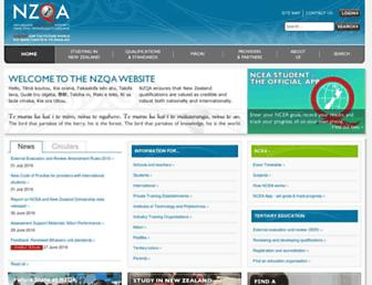 nzqa.govt.nz screenshot