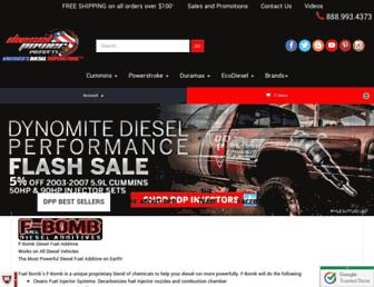dieselpowerproducts.com screenshot