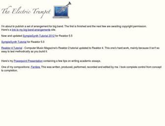 electrictrumpet.com screenshot