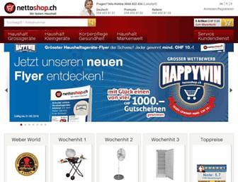 Main page screenshot of nettoshop.ch