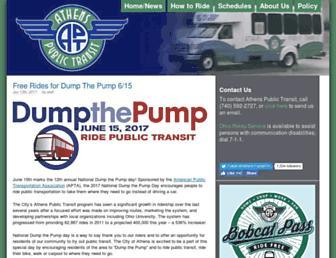 Main page screenshot of athenstransit.org