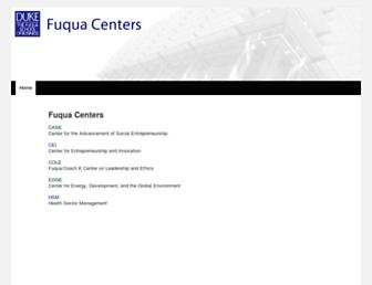 centers.fuqua.duke.edu screenshot