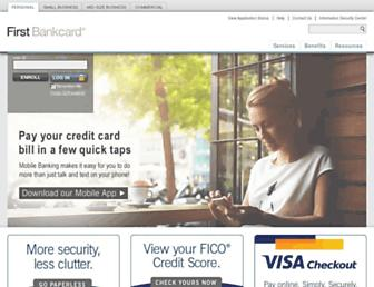 Thumbshot of Firstbankcard.com