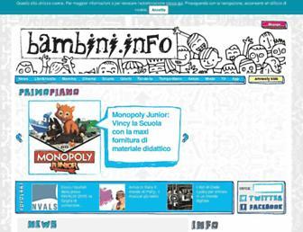 Main page screenshot of bambini.info