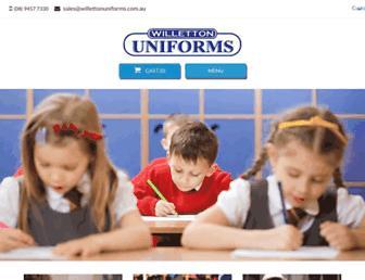 willettonuniforms.com.au screenshot