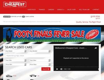 melbournescheapestcars.com.au screenshot