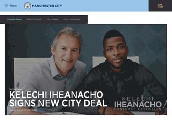 mancity.com screenshot