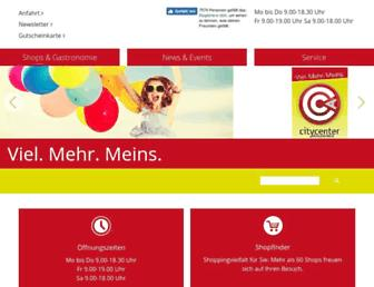 Main page screenshot of ccamstetten.at