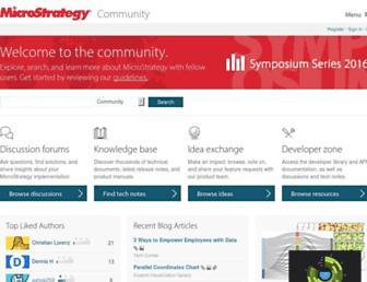 community.microstrategy.com screenshot