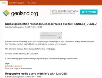 Main page screenshot of geoland.org
