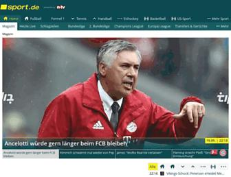 sport.de screenshot
