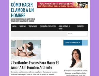 comohacerelamoraunhombre.net screenshot