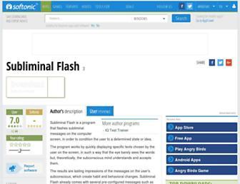 subliminal-flash.en.softonic.com screenshot