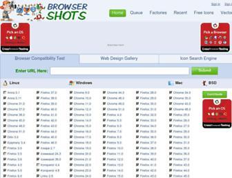 Main page screenshot of browsershots.org
