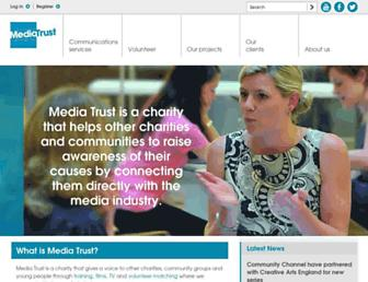 Main page screenshot of mediatrust.org