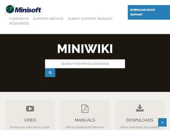 support.minisoft.com screenshot