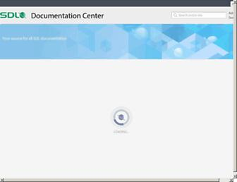 producthelp.sdl.com screenshot
