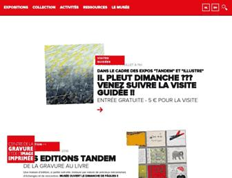 Main page screenshot of centredelagravure.be