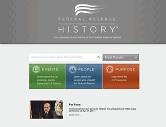 federalreservehistory.org screenshot