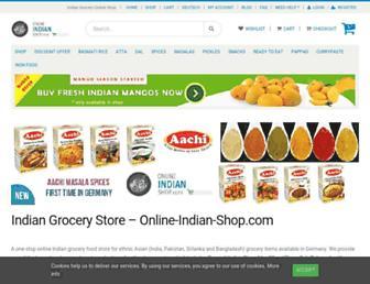 online-indian-shop.com screenshot