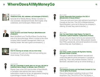 wheredoesallmymoneygo.com screenshot