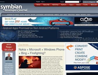 symbian.sys-con.com screenshot