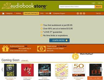audiobookstore.com screenshot