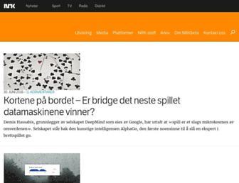 Main page screenshot of nrkbeta.no