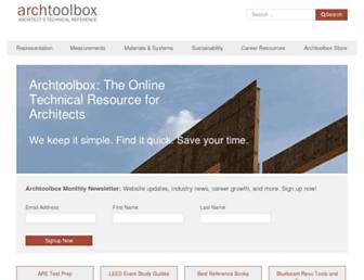 archtoolbox.com screenshot