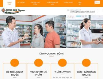 trungsonpharma.com screenshot