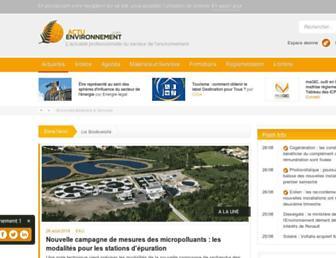 actu-environnement.com screenshot