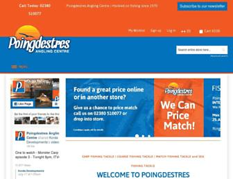 Main page screenshot of poingdestres.co.uk