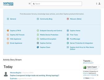 community.sophos.com screenshot