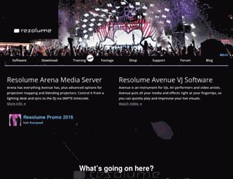 resolume.com screenshot