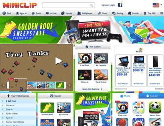 miniclip.com screenshot